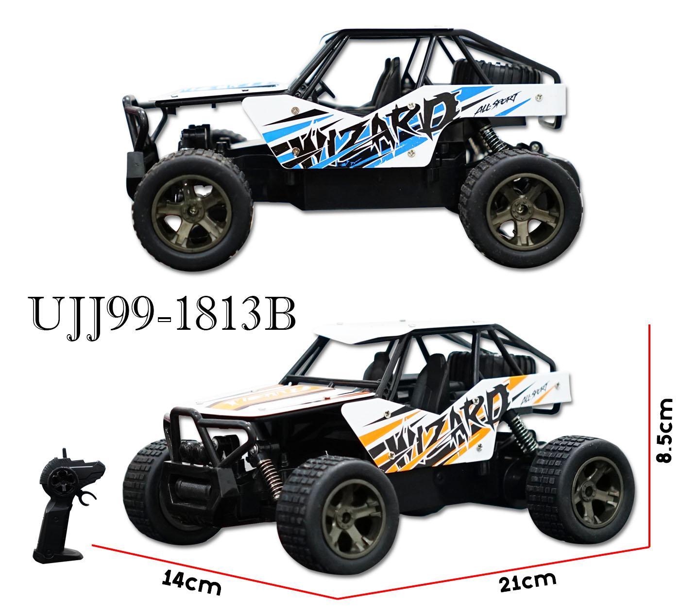 RKJ Mainan Anak RC Mobil Remot Cheetah King Wizard 2.4GHz 1:18 UJ99-1813B