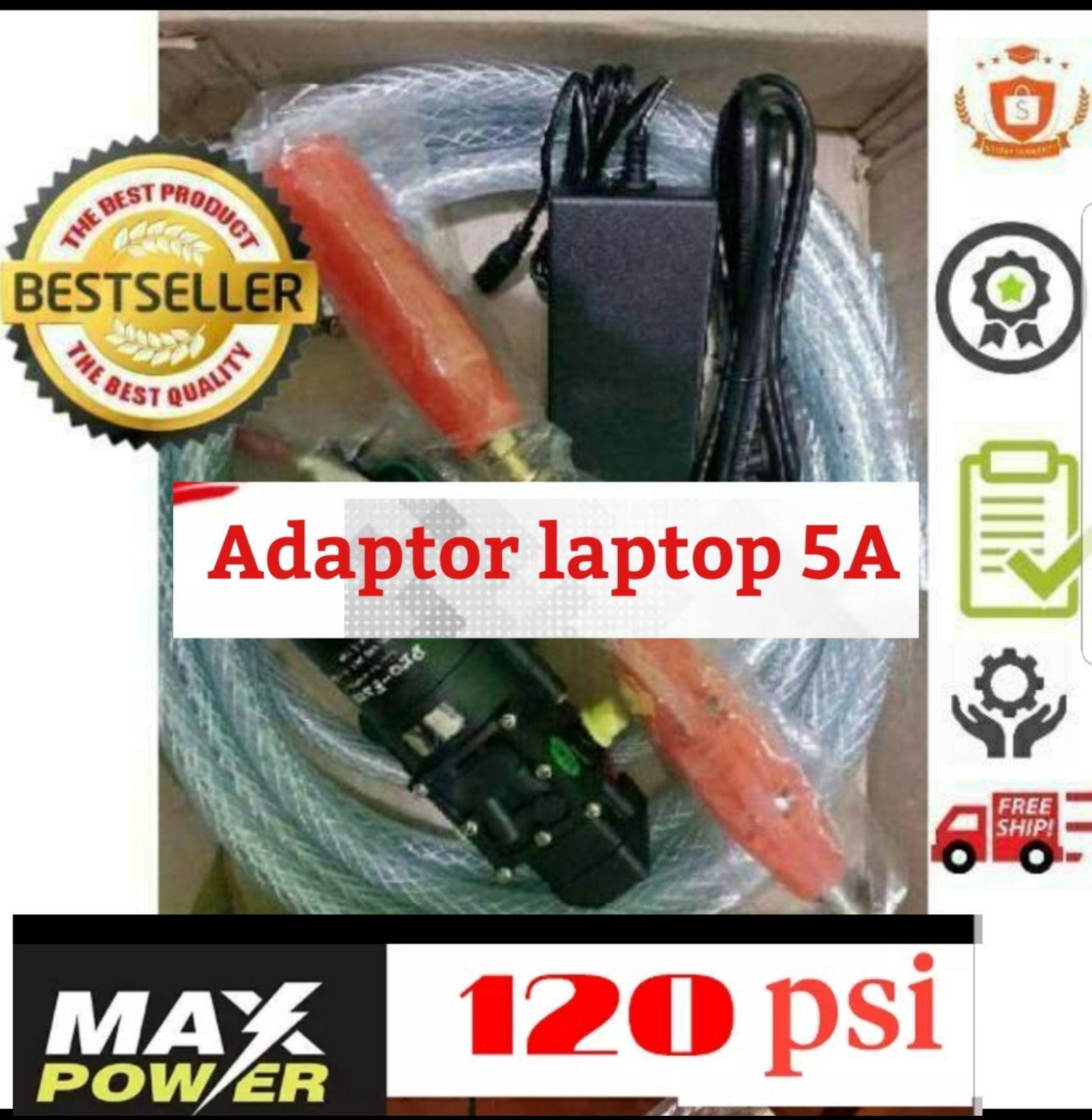 Produk terbaik dengan Adaptor Laptop 5.0A membuat power mesin  maksimal Alat Cuci Motor Spek DEWA