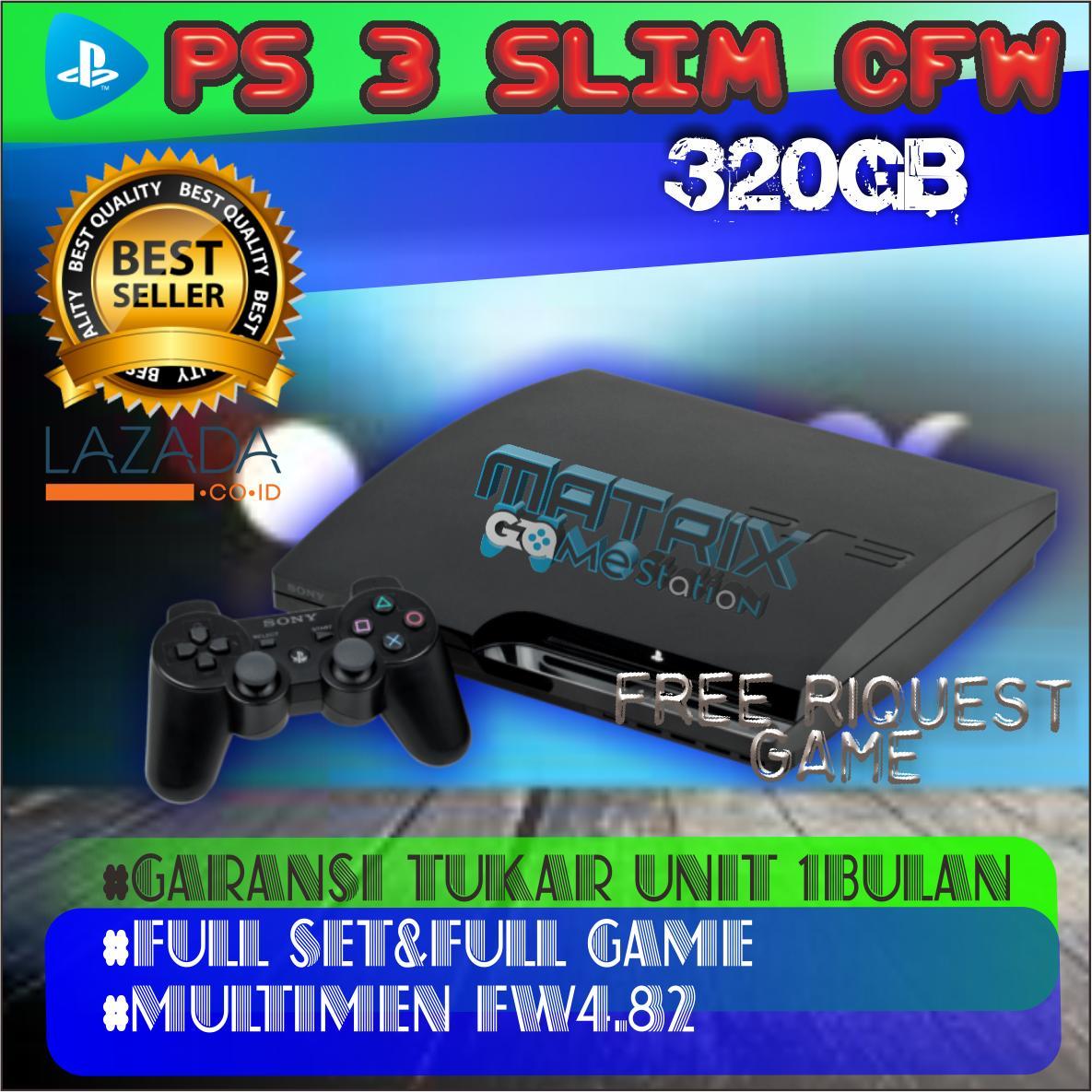 Playstation 3 SLIM Sony PS3 SLIM 320gb CFW 1 Stick PROMO