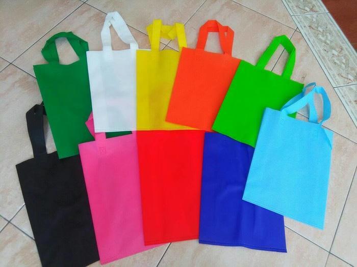 tas spunbond tali 25x35 souvenir goodie bag seminar kain belanja goody - Wsz11l
