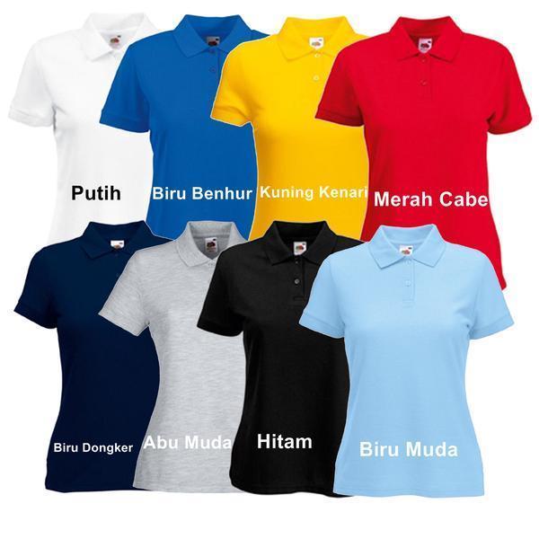 Kaos Atau Baju Polo Wanita - Ukuran M L XL