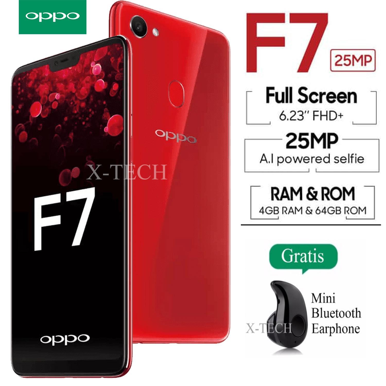 Oppo F7 - 4GB / 64GB - Layar 6.23 inch - 4G/LTE - 24MP