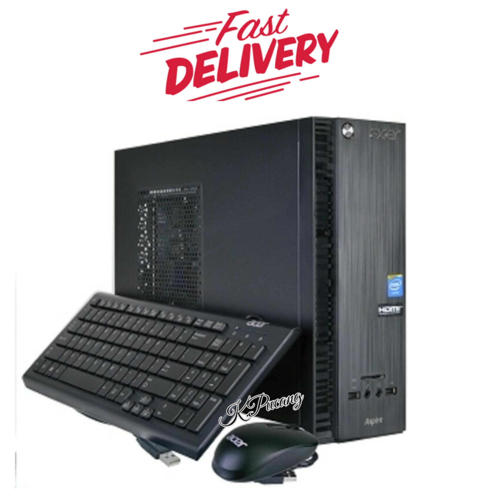 PC Built Up Acer Aspire XC-704G | Intel Celeron CPU N3050 | 4GB Ram | 500GB Hdd | Windows 10 Home | Black | FREE Asuransi Paket