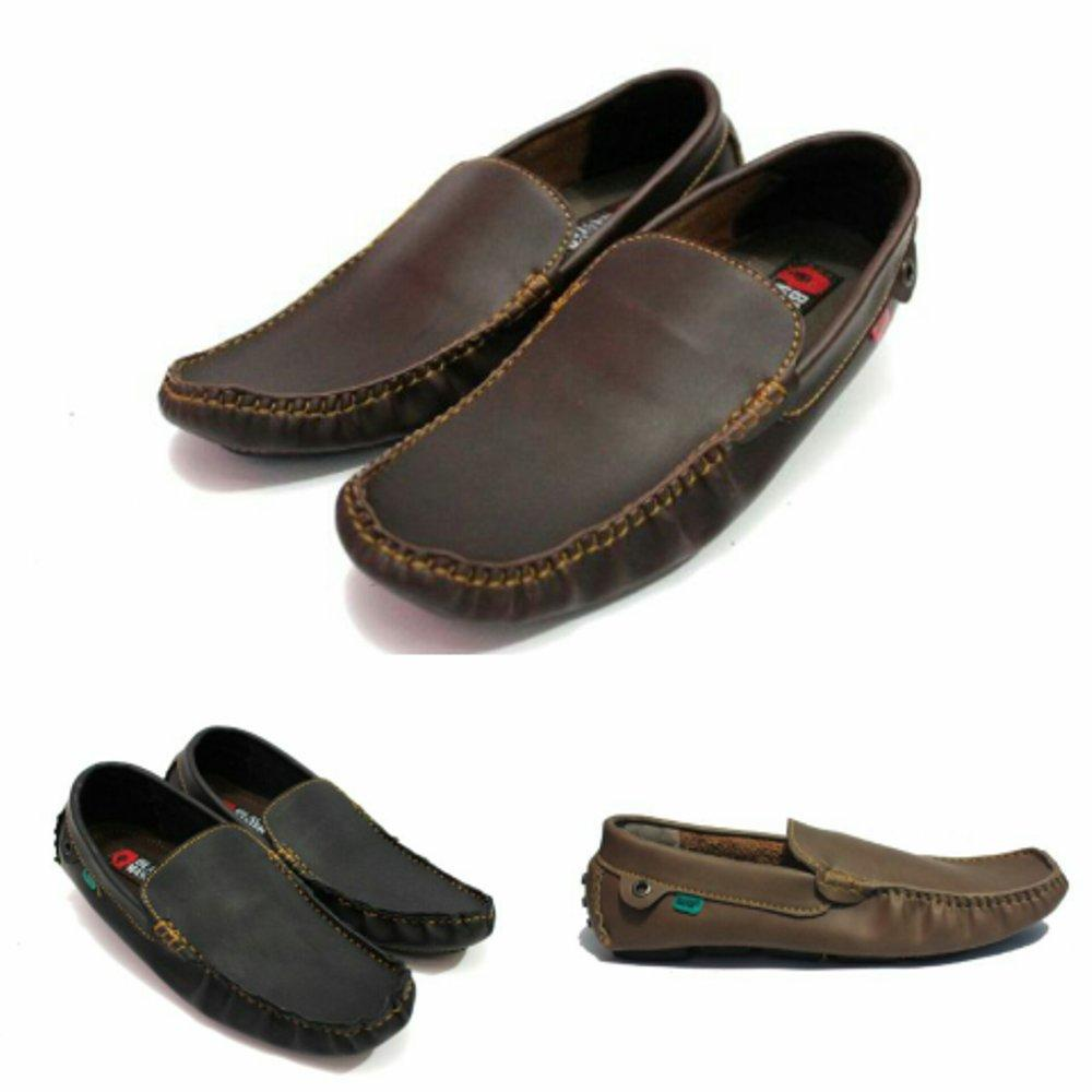 Promo sepatu casual pria slop.slip on santai blackmaster original joger formal / compt kickers....flat shoes  Diskon