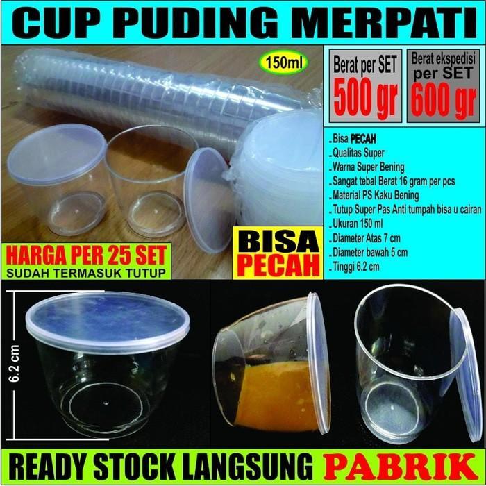 Cup Puding Bening/Sambal/Ice Cream/Eskrim/Srikaya/Slime/Gelas