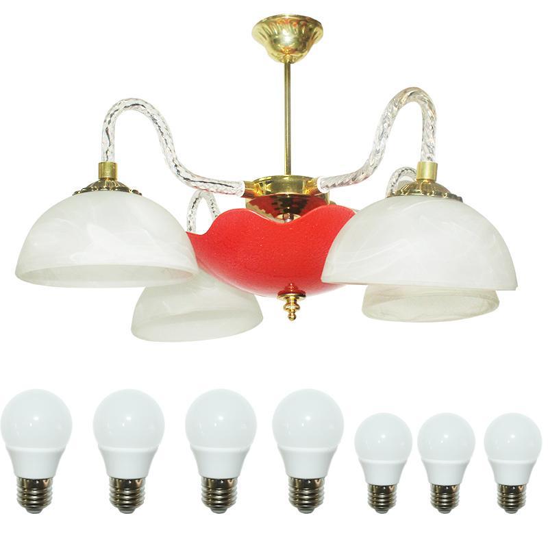 EELIC LHG-30 Lampu Hias Gantung + 3 PCS LED 3 Watt Dan 4 PCS LED 5 WATT  Kap Lampu Berbentuk Mangkok Cantik