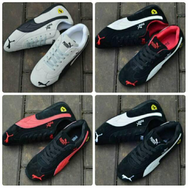 Sepatu Senam Puma Ferrari Woman Sneakers Aerobik Jogging Casual Santai Sport Wanita Murah Olahraga