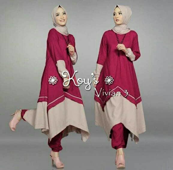 Hijab Set 3In1 Zig Koy VIVIAN Maroon