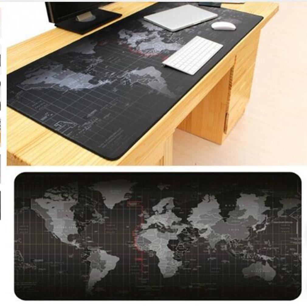 300*700*2 Mm Super Besar Ukuran Keyboard Alas Dunia Map Pola Permainan Komputer Mouse Keyboard Karet Alas alas Meja Alas