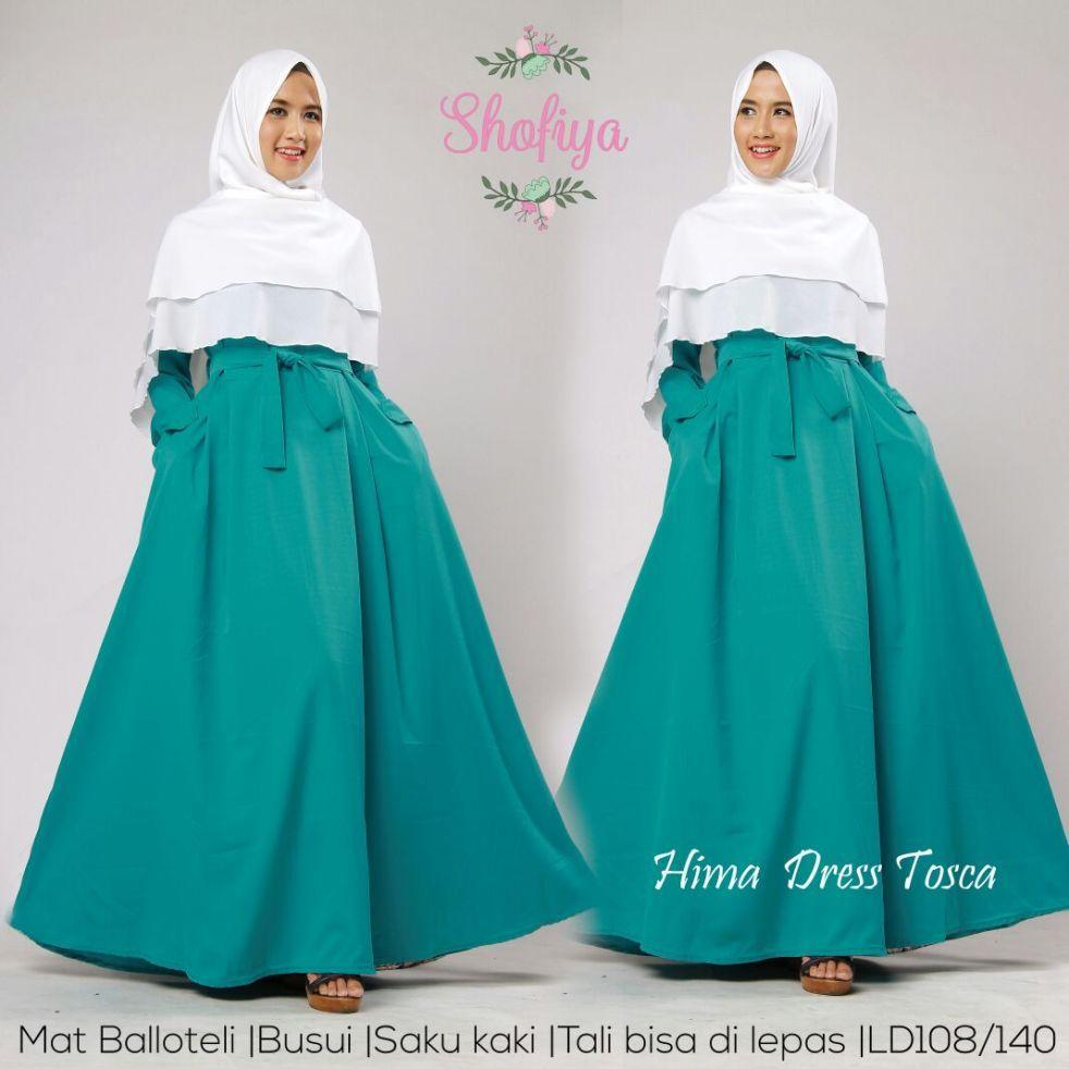 Long Dress Gamis Maxi Tangan Panjang Wanita Dewasa - Gamis polos baloteli / Lengan Plipit Bunga Busana Muslim Wanita Gamis Murah Baju Lebaran Baju Pesta
