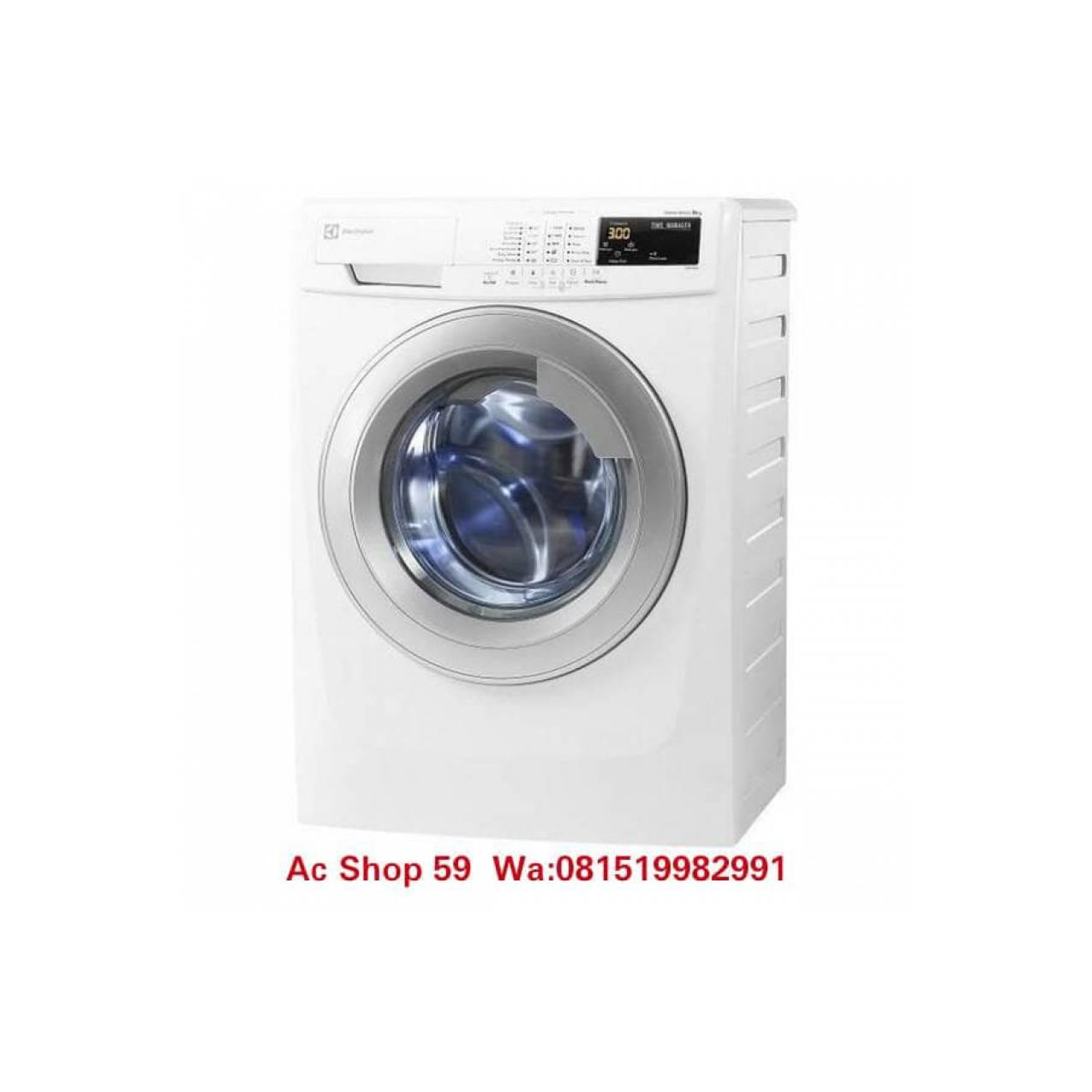 ELECTROLUX MESIN CUCI 7 KG EWF-80743 FRONT LOADING WHITE/SILVER DOOR