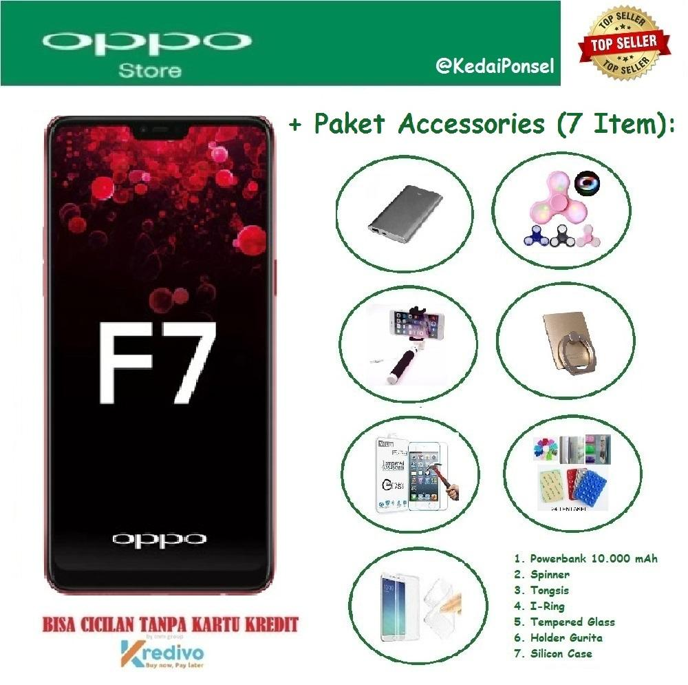 OPPO F7 Pro [6/128GB] + Paket Accessories (7 Item)