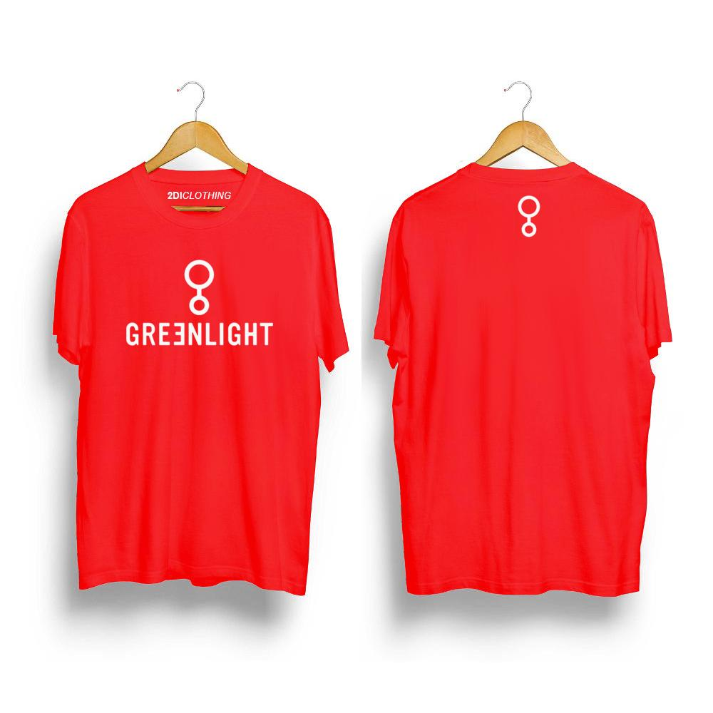 Kaos distro Greenlight Unisex Premium - Tshirt Greenlight RED Premium