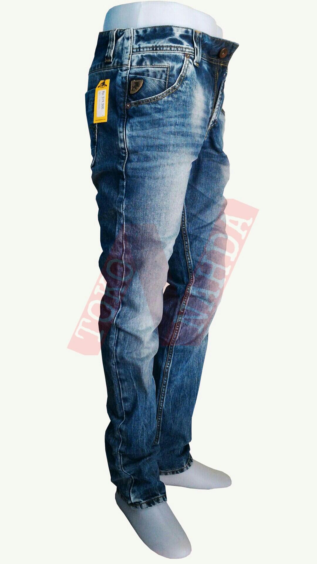 Features Celana Lois Jeans Pria Regular Fit Biru Muda Dan Harga Fashion Panjang Standar 3