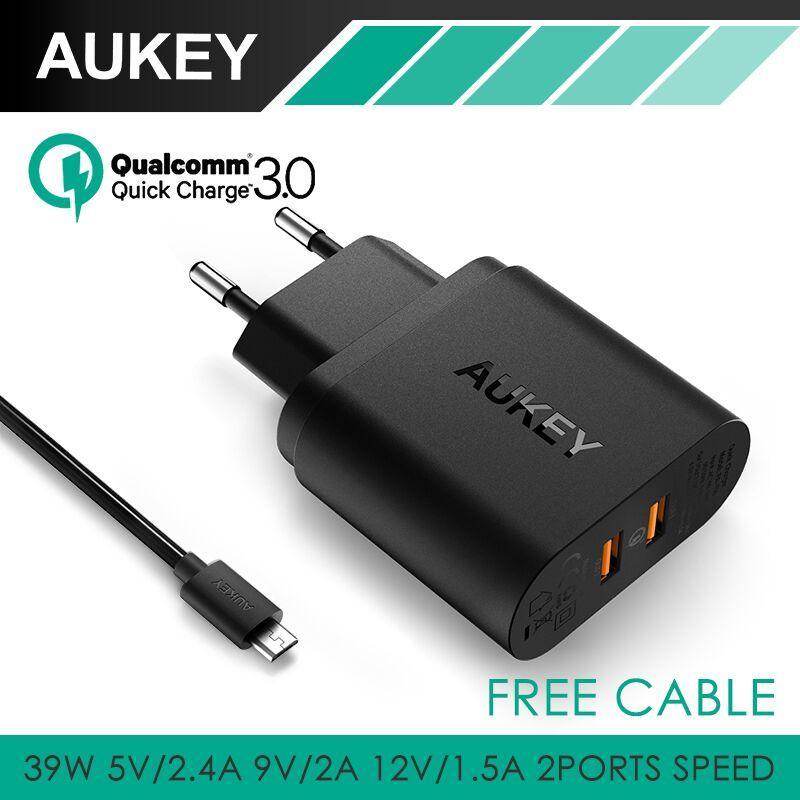 AUKEY PA-T16 DUAL Quick Charge 3.0 Wall Charger Fast Charging