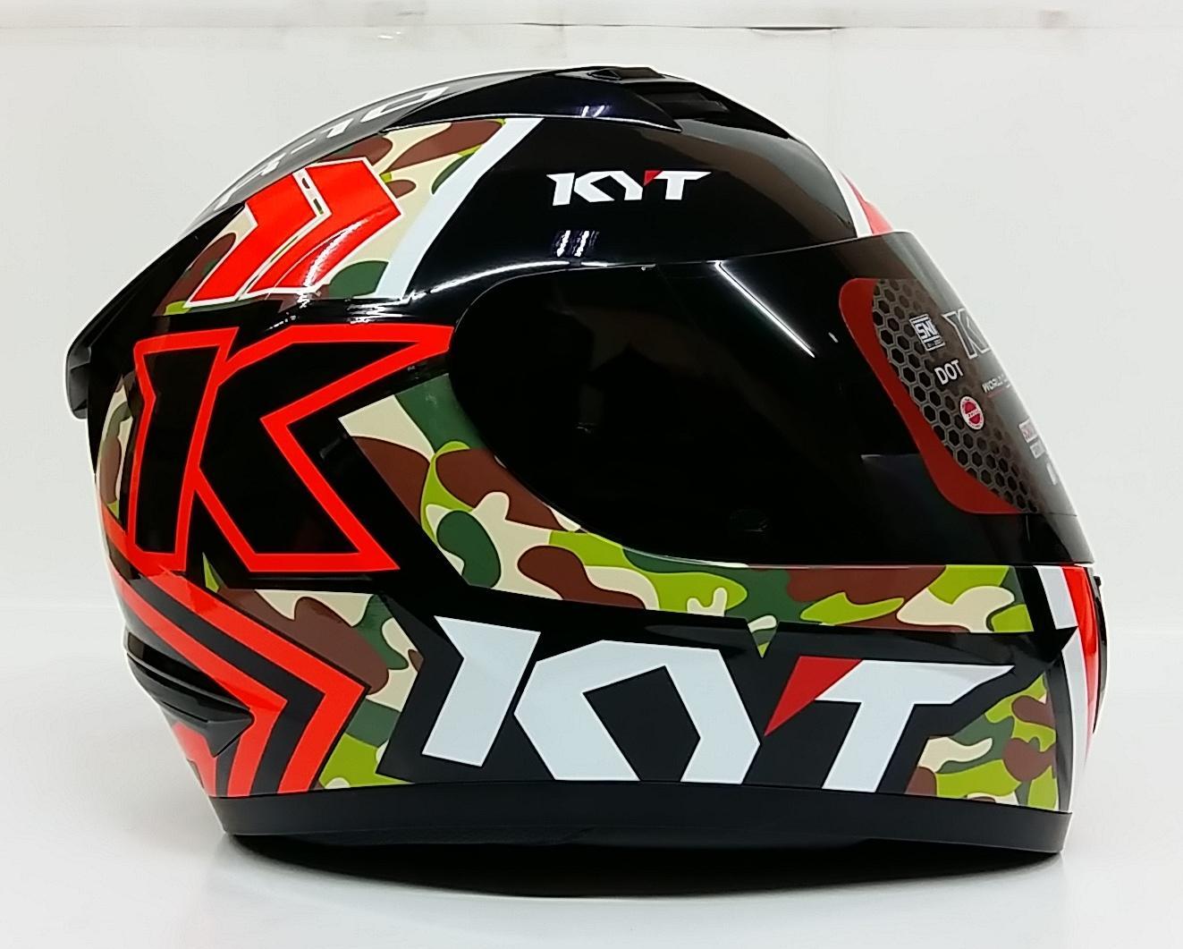 Gambar Produk Rinci KYT R10 #1 Helm Full Face - Bk Red Fluo Terkini