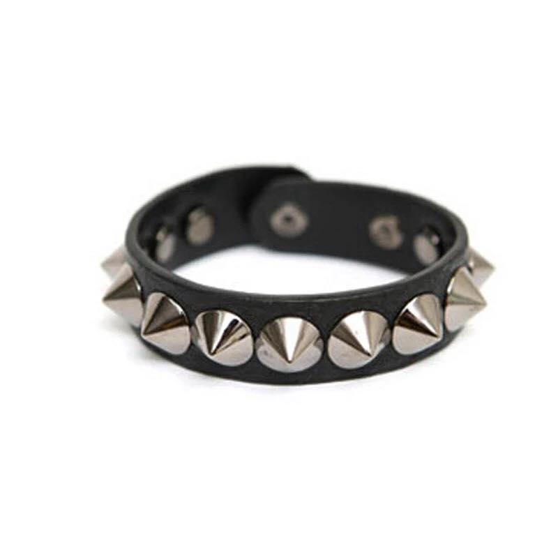 Aksesoris Fashion Gelang Kulit Pria / Cowok / Laki Laki / Wanita / Perempuan / Cewek  Model Punk Kulit Paku / Spike - Leather Bracelet Bangles Punk Style For Women and Men