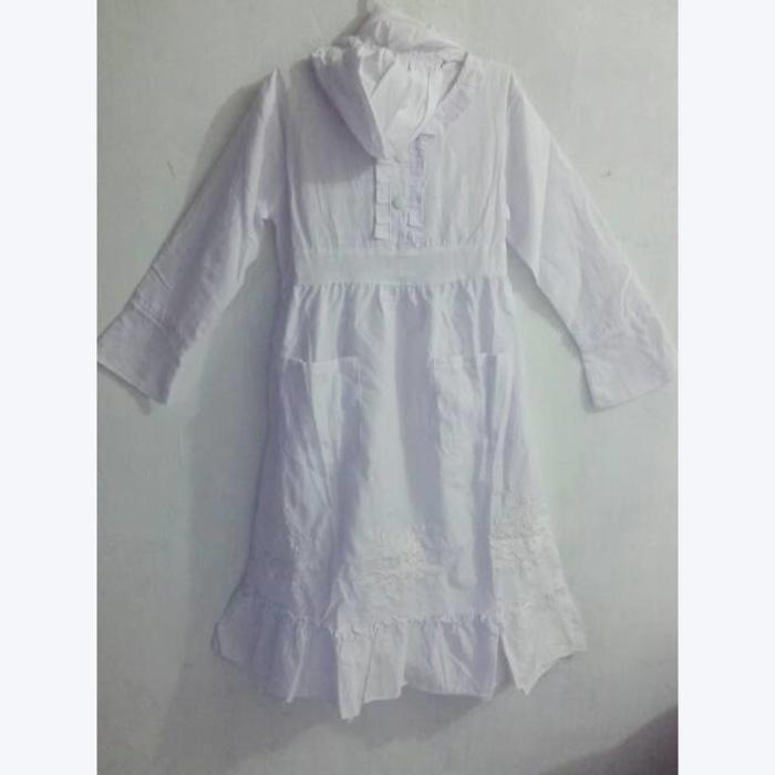 Baju muslim anak warna putih