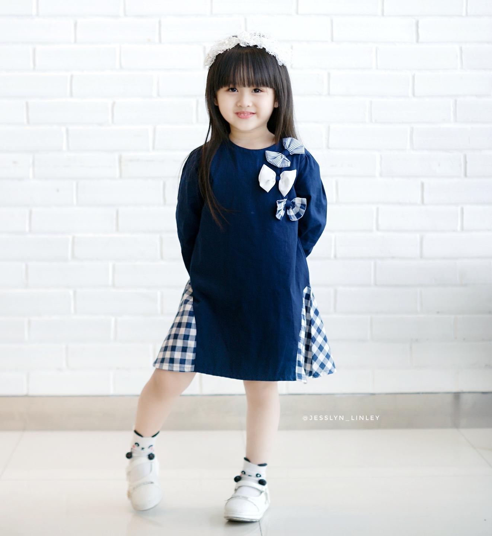 Fitur Baju Anak Perempuan Torio Basic Purple Stylish Long Dress Dan Bayi B65 0123 3 6 M Lengan