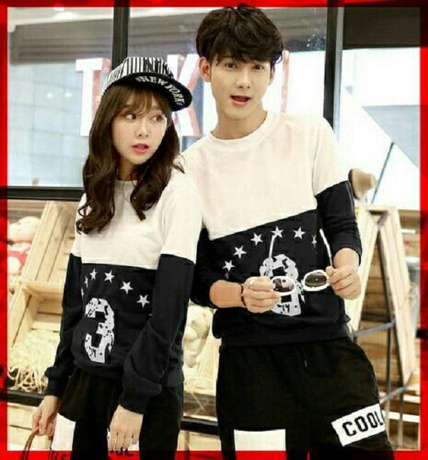 couple store cs - sweater couple 3 star l t-shirt pasangan babyterry l jahitan rapi l HQ I