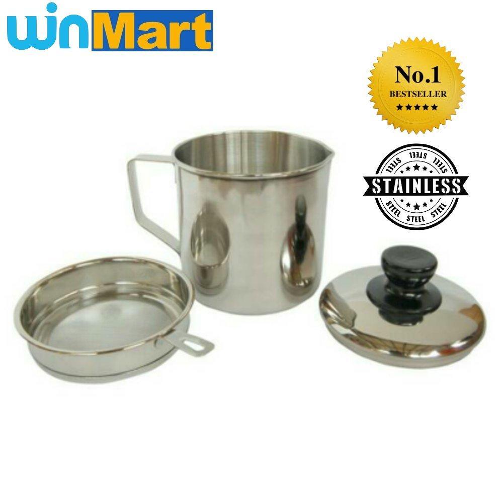 ... Stainless Steel Oil Pot 0.7L (Saringan Minyak Goreng) - 4 ...