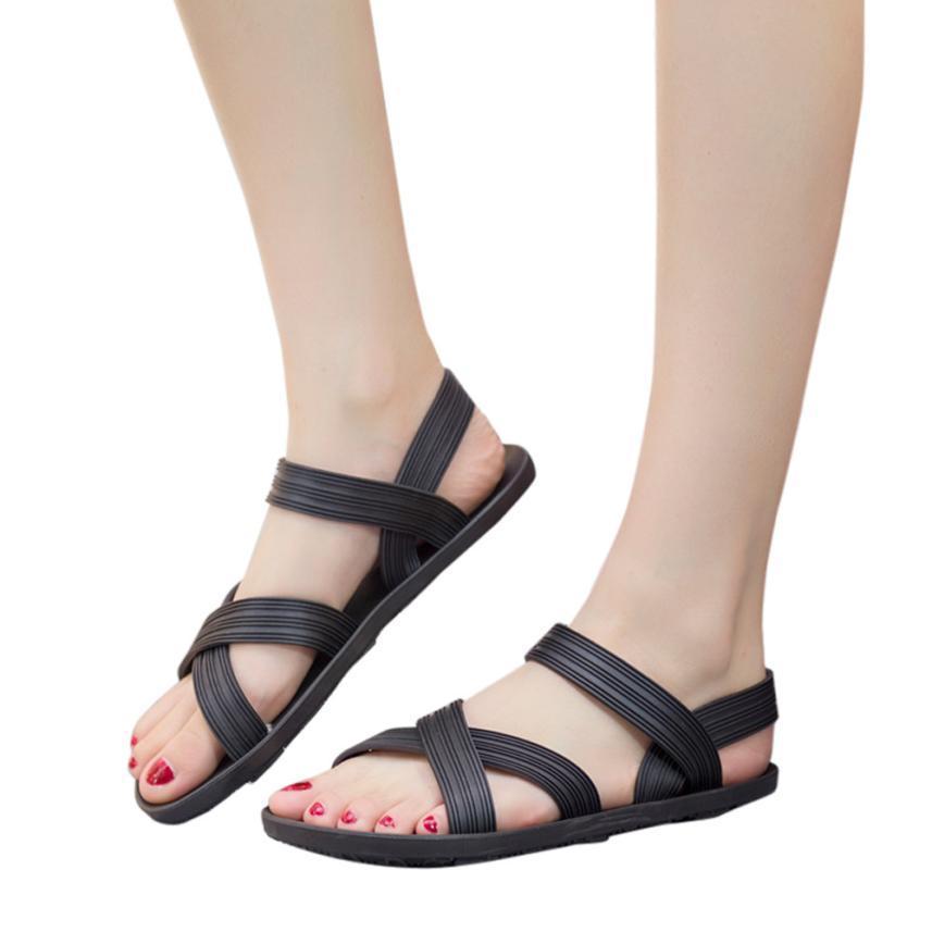 8f291dab4c8d 2018 Cross Skull Flat Sandals Women Summer Shoes Roman Style Fashion  Sandals Shoes Women Flat Sandals ...