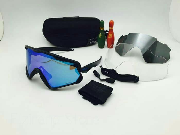 Kacamata Oakley Wind Jacket 2.0 + 3 Lensa kacamata Sepeda ...
