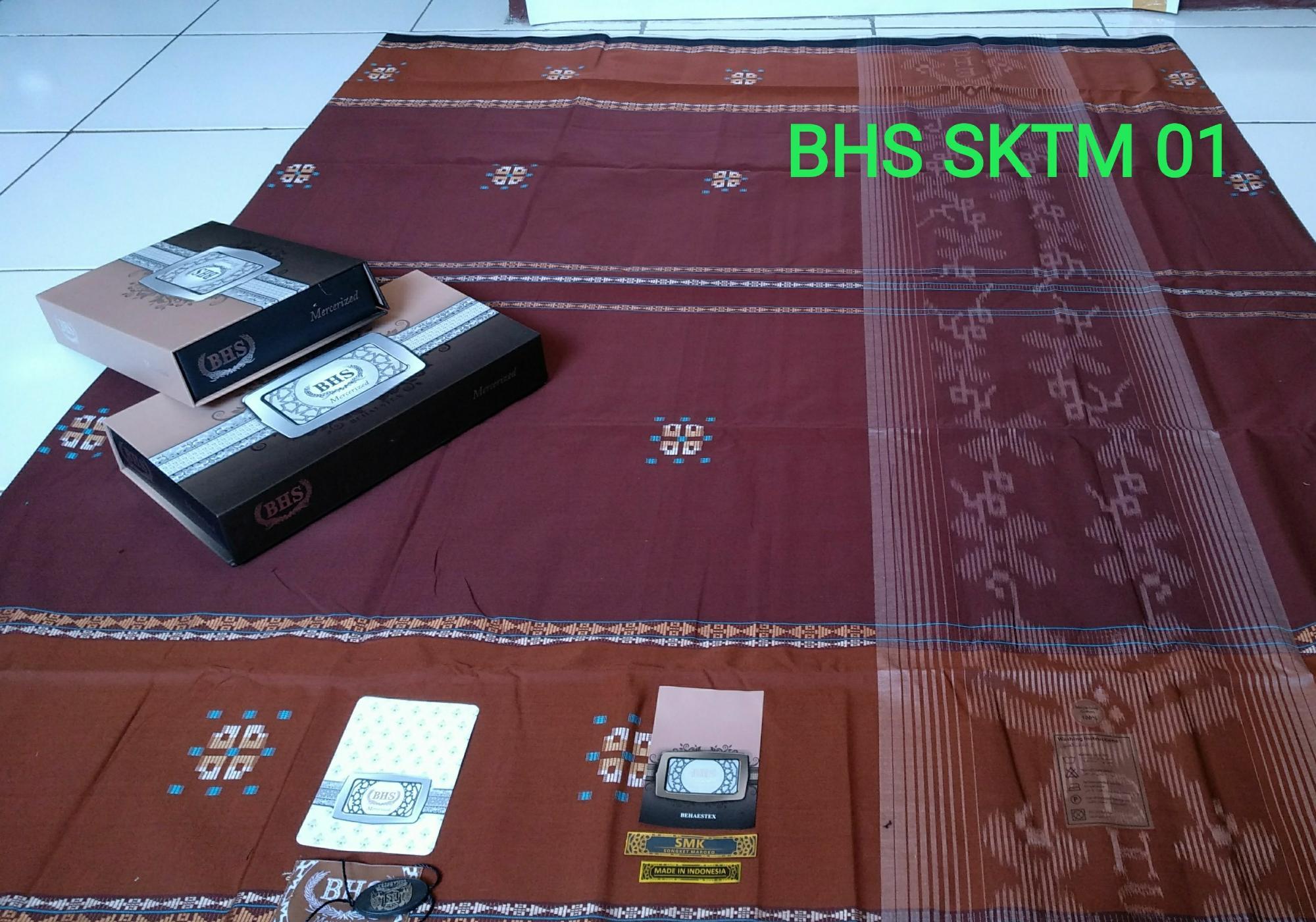Sarung BHS Mercerized Songket Maroko/Sarung BHS/Sarung BHS Songket/Sarung BHS SMK/Sarung Atlas BHS- Original Product