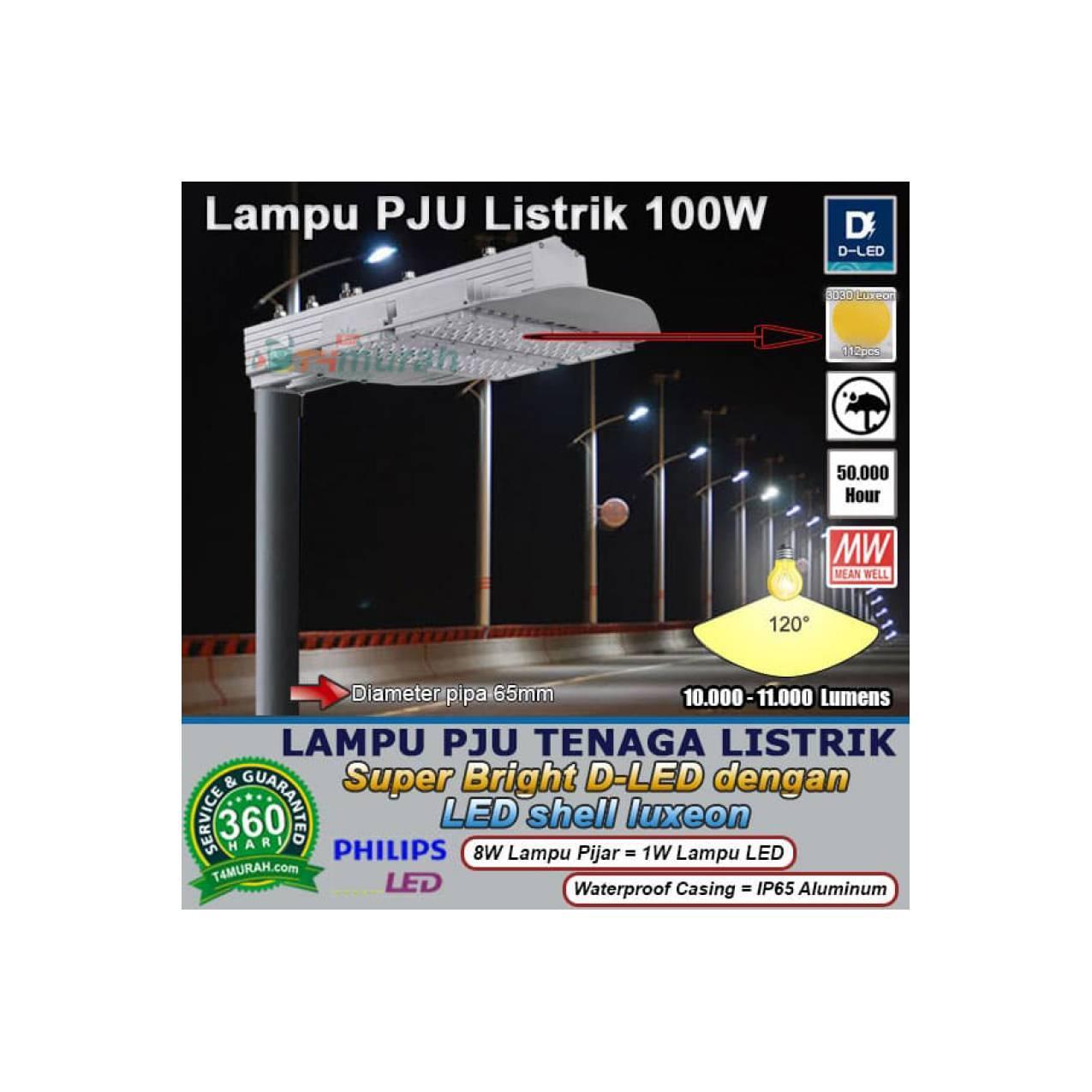 Lampu Penerangan Jalan Umum 100W Super Philips Bright D LED Luxeon