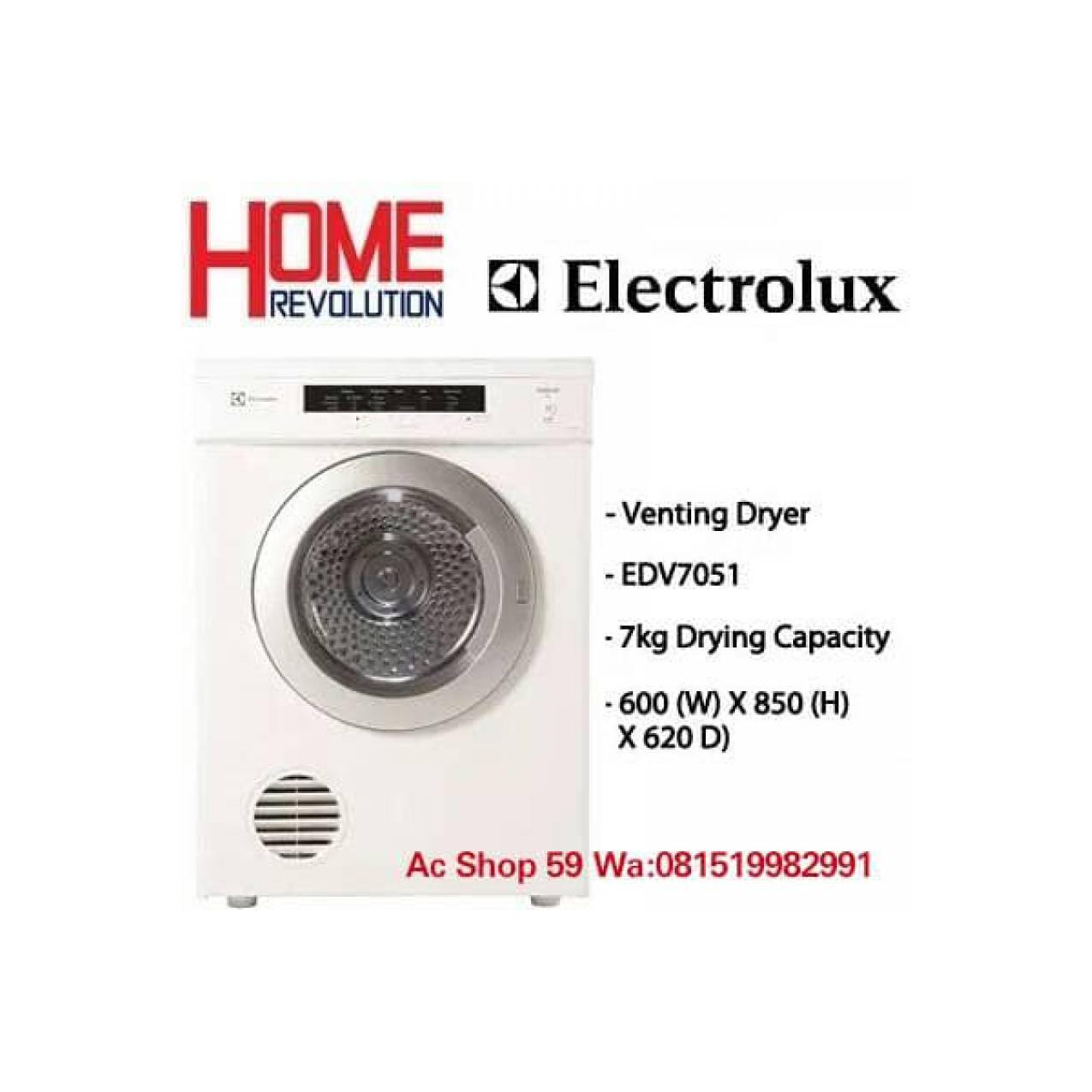 Electrolux Electric Dryer Edv7051 Putih Daftar Harga Terkini Dan Lg Wd P1411d6 10kg Hitam 100 Kering Mesin Cuci Front Loanding 1400rpm Khusus Jabodetabek Rp 12720000