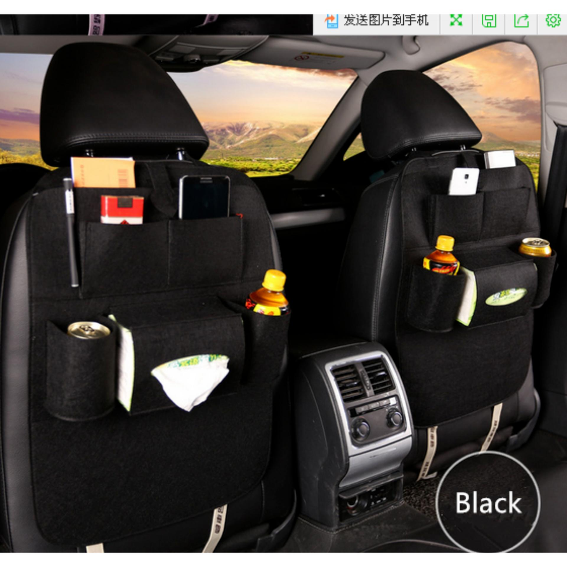 LARS - 283 Car seat organizer Tas Mobil Multifungsi dipasang di belakang jok mobil