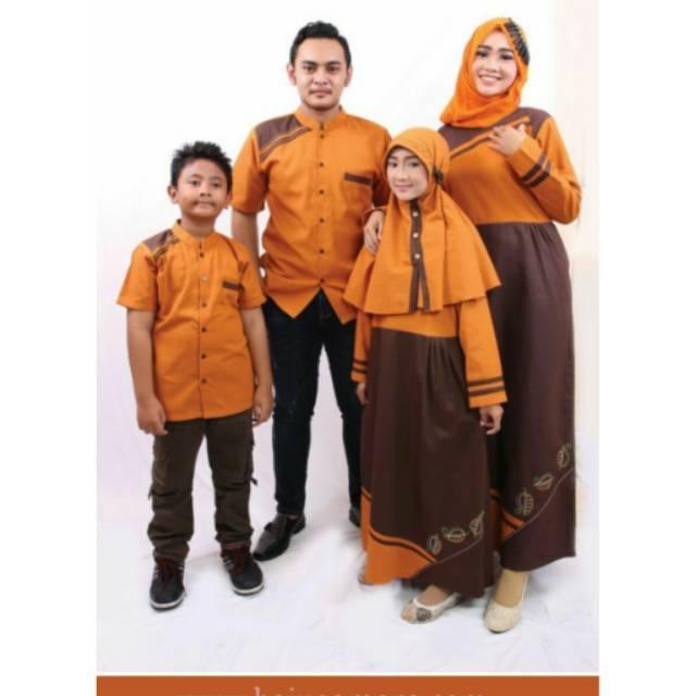 SR.D02 | Sarimbit muslim couple keluarga seragam baju terbaru koko gamis Ayah ibu anak branded murah Koko Anak No 2, 4, 6
