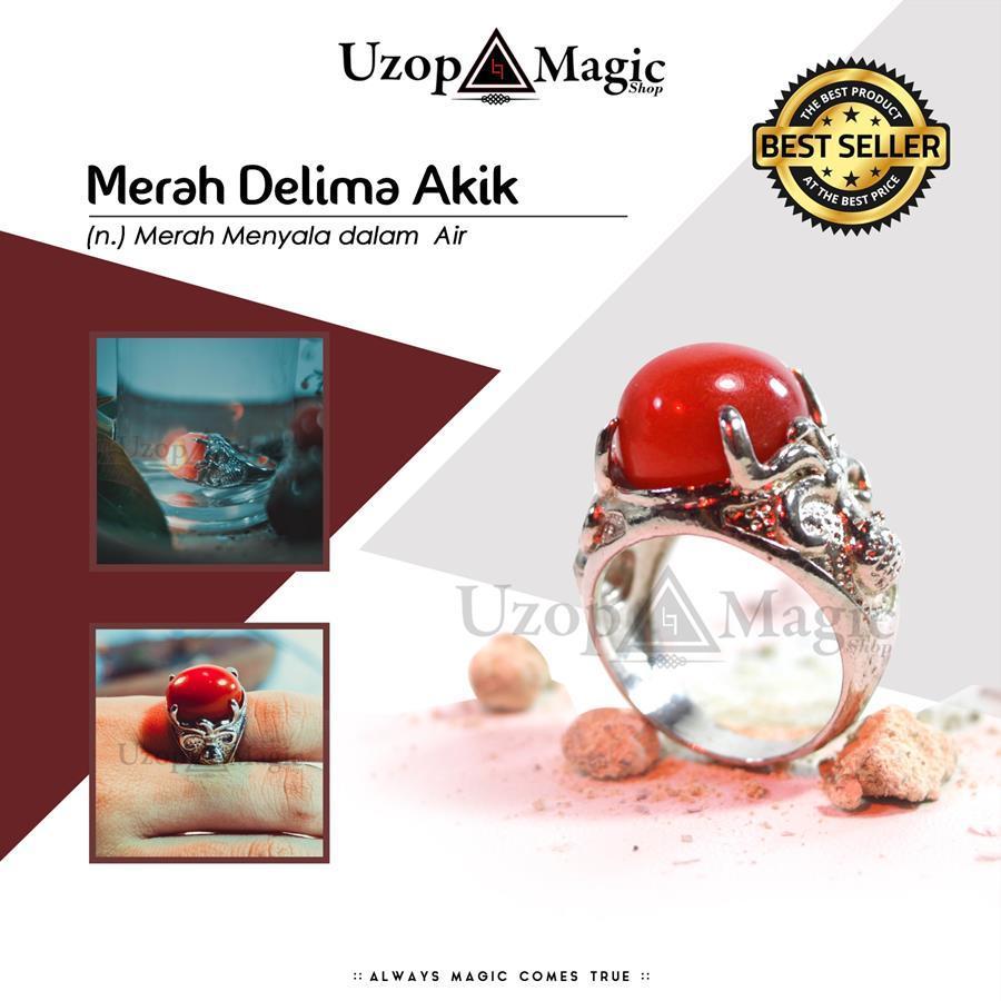 Uzop Magicshop - Alat Sulap Batu Cincin MD Akik Menyala