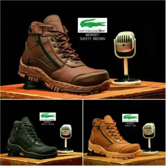 Sepatu Boots Safety Crocodile Morisey Boot Murah Resleting Lacoste Nike Casual Adidas Sneakers Murah