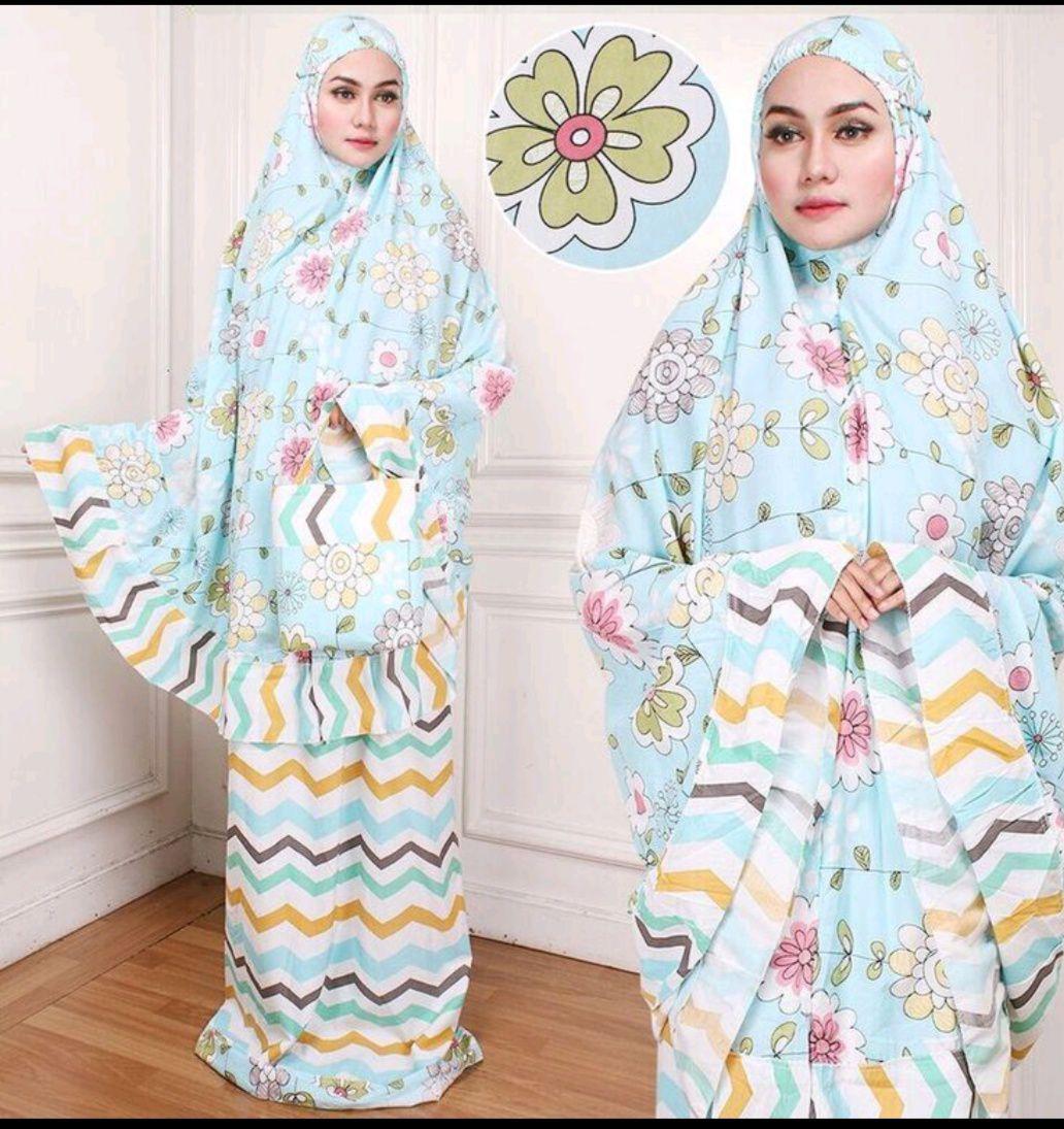 Mukena katun jepang set atasan perlengkapan sholat dewasa mukenah hijab remaja trendy autum