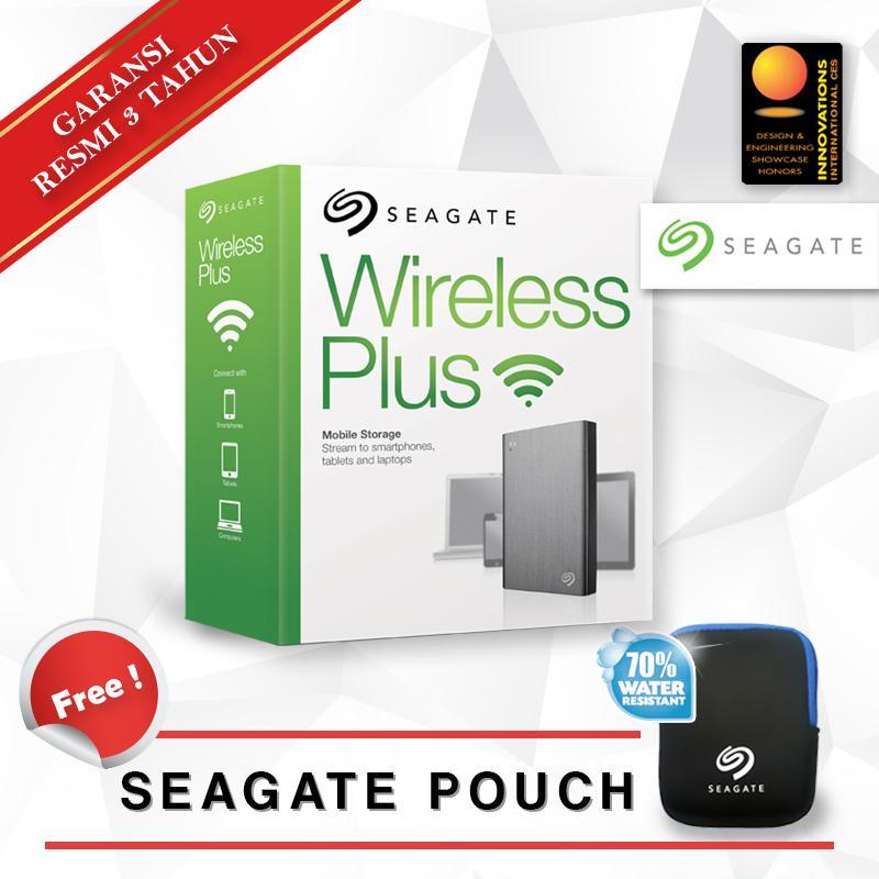 Seagate Wireless Plus 2TB - Silver & Free Pouch .