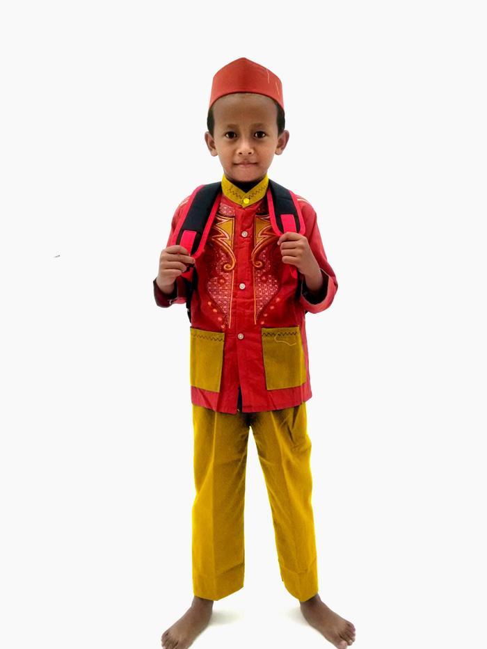 Stelan Koko Anak/ Baju koko anak keren 1 setel - Orange