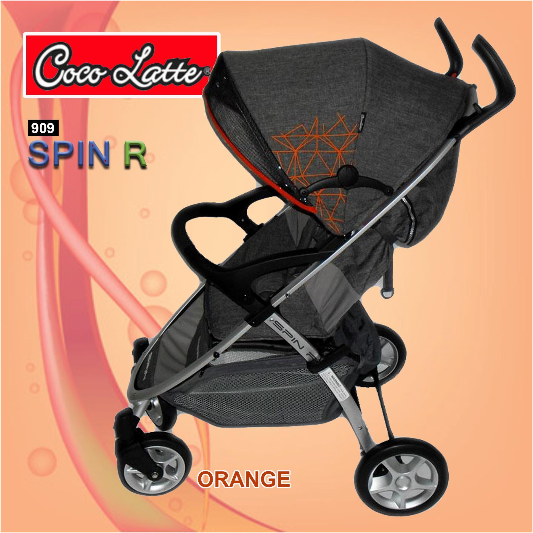 Cocolatte  Stroller Spin-R CL-909 - Kereta Dorong Bayi - Orange