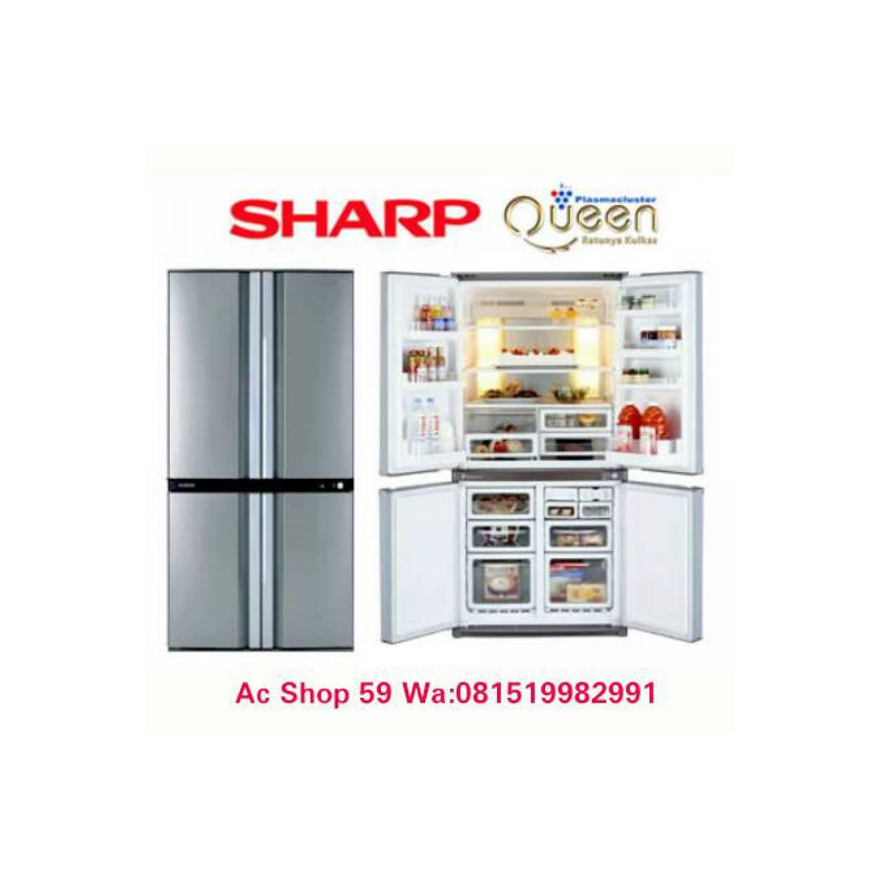 KULKAS SHARP SJ-IF 85 PB-SL,INVERTER SIDE BY SIDE QUEEN SERIES