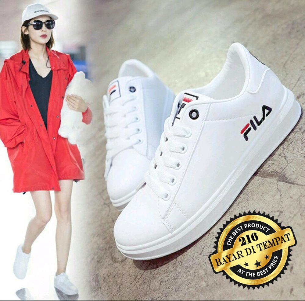 Sepatu Kets Sneaker Putih Pria/Wanita - Sepatu Santai - Sepatu Sekolah F01