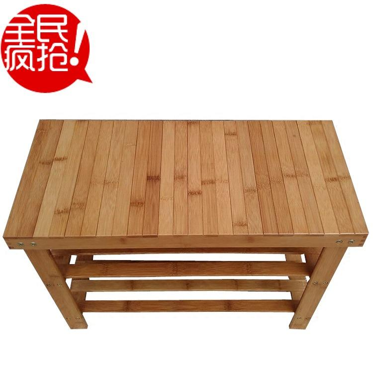 70 Cm Moso Bamboo Footstool Cabinet Household SHOEBOX Household Storage Rack Dormitory Doorway Footstool