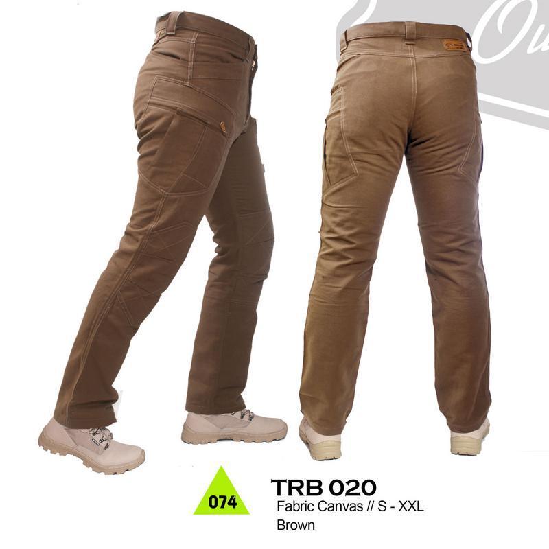 Trekking TRB 020 Celana Gunung - bahan canvas - Bagus & berkualitas (coklat)