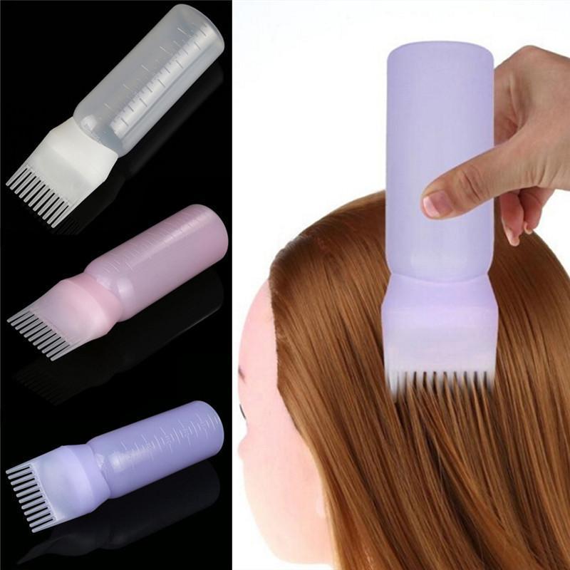 Dyeing Bottle Shampoo Bottle Oil Comb 120ML Hair Tools Hair Dye Bottle Applicator Brush Bottle Styling Tool Hair Coloring - intl cao cấp