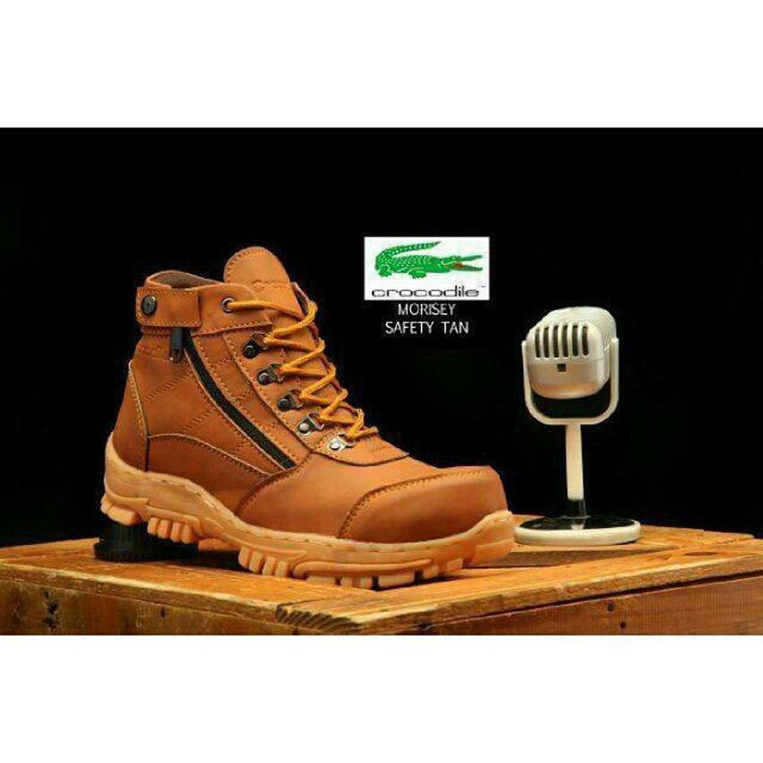 Sepatu Boots Pria Crocodile sepatu Safety Boots Tracking Hikking Sepatu Gunung Sepatu Pria Kerja Santai
