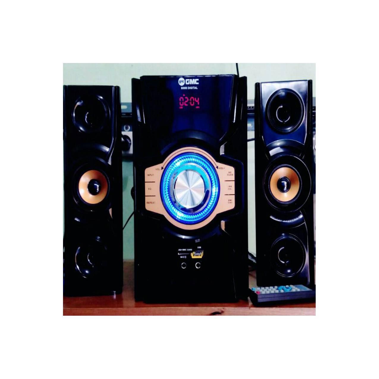 Speaker Aktif Multimedia GMC 889B Bluetooth, FM Radio, Remote, Karaoke