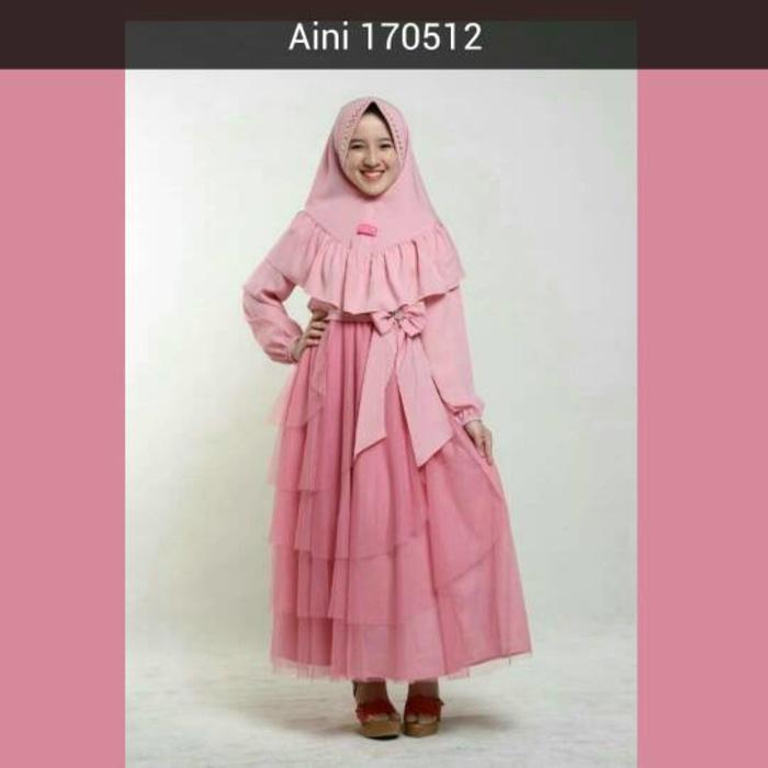 Baju Muslim Anak Perempuan Balita TK SD, Gamis Pesta Anak Aini 170512
