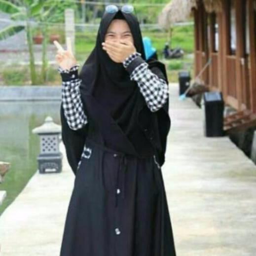 Gamis kotak kotak gamis asoka gamis baloteli balotelli balloteli dress syari busana muslim remaja coksu size L (B)