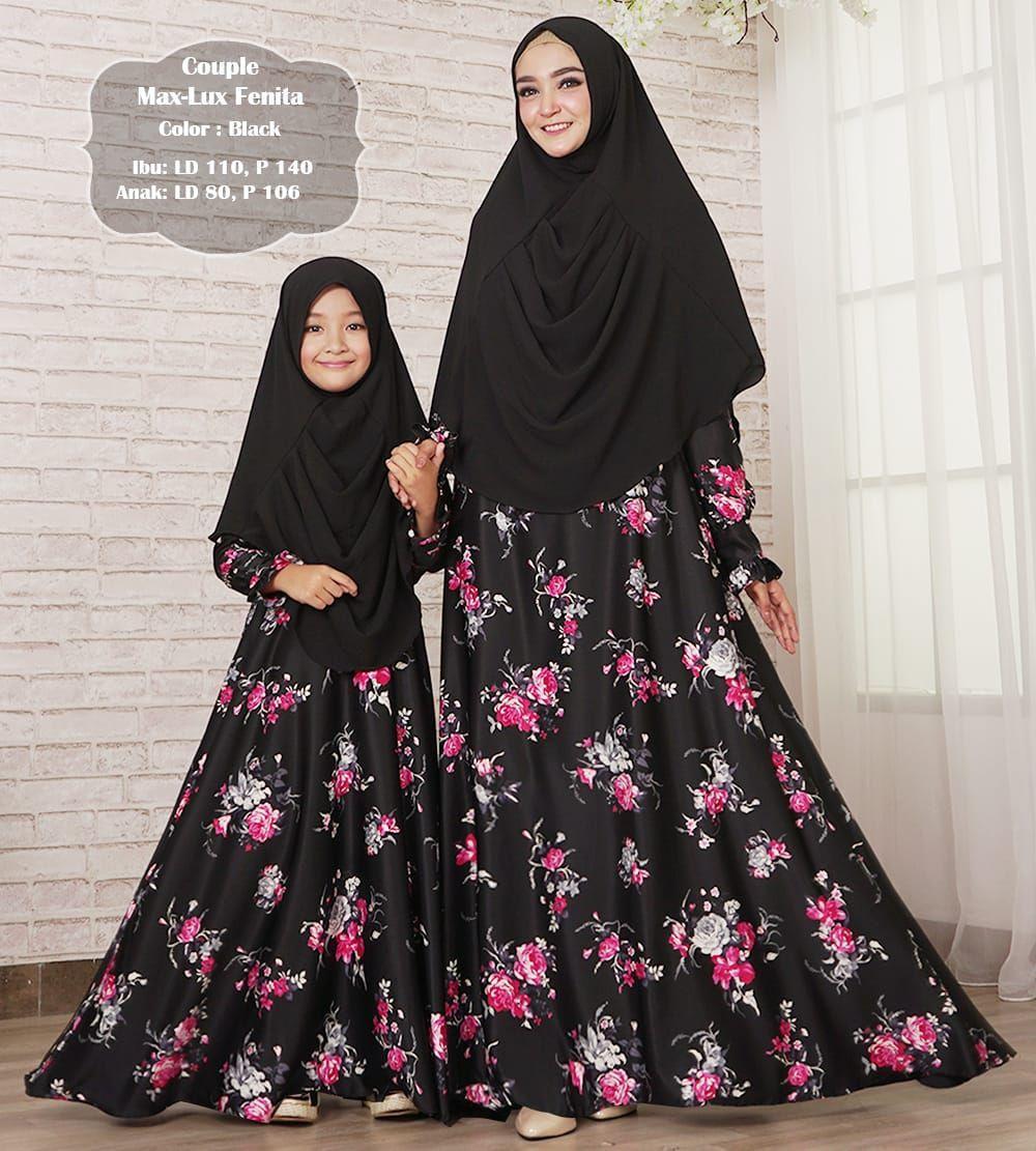 Gamis muslim syar'i maxmara lux fenita ibu dan anak couple