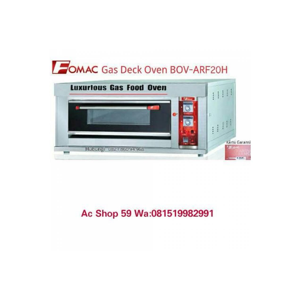 OVEN ROTI GAS FOMAC ARF-20H DECK OVEN BOV LUXURIOS GAS FOOD