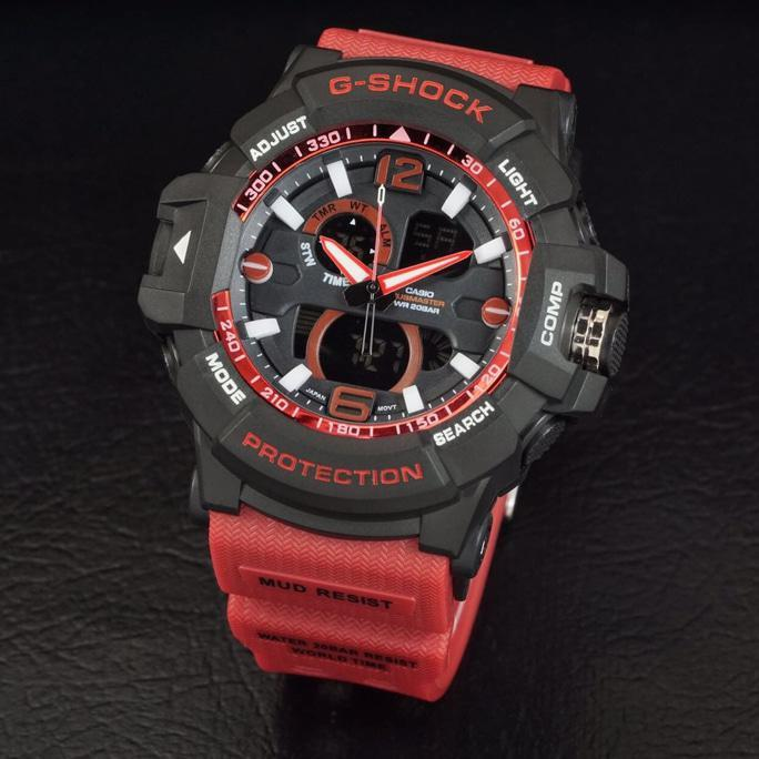 G Shock Gwa 1045 Tali Merah Black Hitam Gshock Gwa1045 Jam Tangan Pria - Timewatch